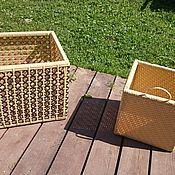 Ящики ручной работы. Ярмарка Мастеров - ручная работа Плетеные ящики из искусственного ротанга. Handmade.