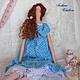 Куклы Тильды ручной работы. Ярмарка Мастеров - ручная работа. Купить Кукла в стиле тильда Аврора. Handmade. Голубой, ангел