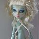 Коллекционные куклы ручной работы. Ярмарка Мастеров - ручная работа. Купить ООАК монстр Хай. Handmade. Голубой, подарок