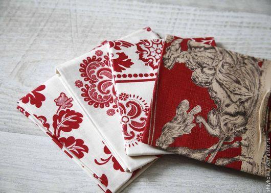 Шитье ручной работы. Ярмарка Мастеров - ручная работа. Купить 4 отреза.. Handmade. Ярко-красный, ткани, ткани для пэчворка