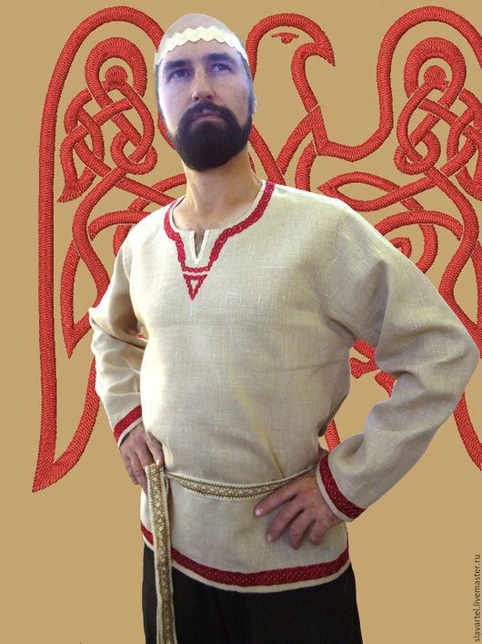 """Одежда ручной работы. Ярмарка Мастеров - ручная работа. Купить Рубаха """"Велеяр""""; мужская рубаха; мужская сорочка; льняная рубашка. Handmade."""
