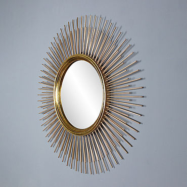 Для дома и интерьера ручной работы. Ярмарка Мастеров - ручная работа Зеркало солнце Alba Gold, зеркало настенное. Handmade.