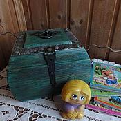 Подарки к праздникам ручной работы. Ярмарка Мастеров - ручная работа Сундук со сказками и Домовенок Кузенька. Handmade.