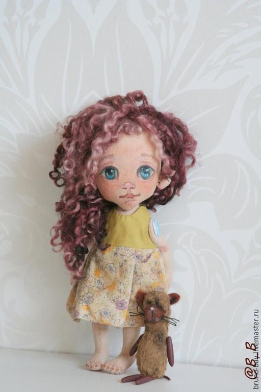 Портретные куклы ручной работы. Ярмарка Мастеров - ручная работа. Купить Сестренка. Handmade. Бежевый, куколка, хлопок, Натуральный волос