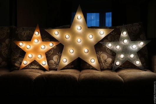 Освещение ручной работы. Ярмарка Мастеров - ручная работа. Купить Интерьерный светильник звезда. Handmade. Комбинированный, хендмейд, декор для свадьбы