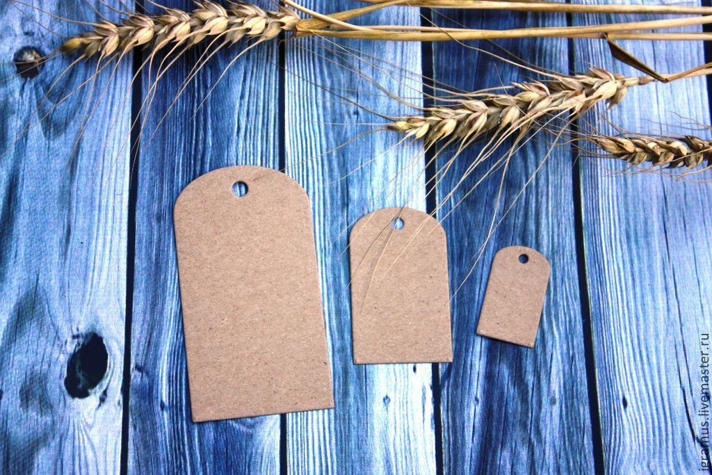 Wrapping Supplies handmade. Livemaster - handmade. Buy Tag: Kraft cardboard rounded (3 sizes).Eco, tag, Kraft paper