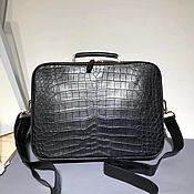 Сумки и аксессуары handmade. Livemaster - original item Men`s bag, made of genuine crocodile leather, in black color to order!. Handmade.