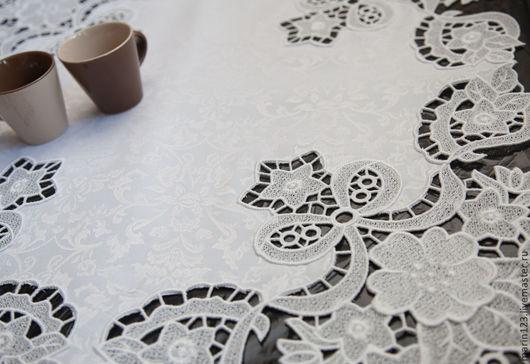 Текстиль, ковры ручной работы. Ярмарка Мастеров - ручная работа. Купить Салфетка Ришелье. Handmade. Белый, салфетка ришелье, нитки