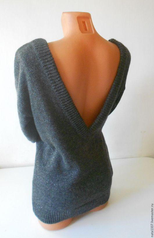 Кофты и свитера ручной работы. Ярмарка Мастеров - ручная работа. Купить Джемпер с открытой спиной Искорка. Handmade. Серый