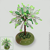 Цветы и флористика handmade. Livemaster - original item Tree of happiness from fluorite in the bowl onyx. Handmade.
