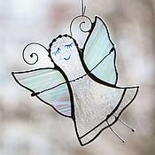 Для дома и интерьера ручной работы. Ярмарка Мастеров - ручная работа Фея - бабочка. Витраж подвес. Стекло, металл. Handmade.