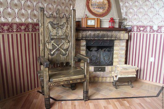 """Мебель ручной работы. Ярмарка Мастеров - ручная работа. Купить Кресло № 3 """"Викинг"""". Handmade. Кресло, кресло из дерева"""