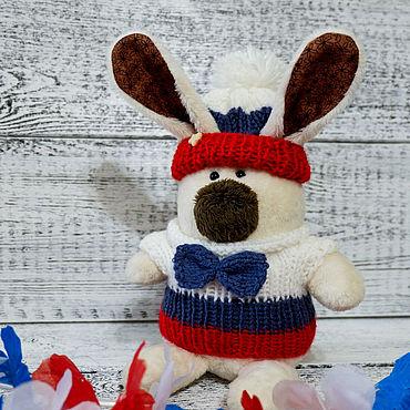 Куклы и игрушки ручной работы. Ярмарка Мастеров - ручная работа Игрушки: Зайчик Снежик в триколоре. Handmade.