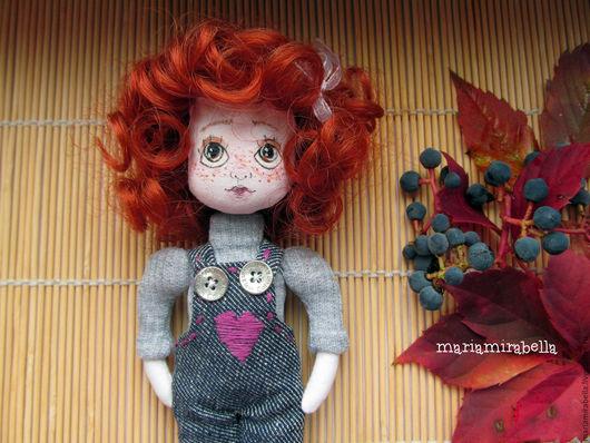 Человечки ручной работы. Ярмарка Мастеров - ручная работа. Купить куколка кудряшка Сью. Handmade. Рыжий, маленькая кукла, рыжуха