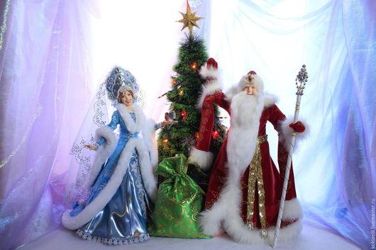 Коллекционные куклы ручной работы. Ярмарка Мастеров - ручная работа. Купить Куклы Дед Мороз и Снегурочка. Handmade. Дед мороз