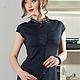 Платья ручной работы. Заказать Forta blue. Strygina (Strygina). Ярмарка Мастеров. Стрыгина, офисное платье, 14% полиамид