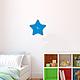 Часы Звезда станут милым дополнением декора детской комнаты.