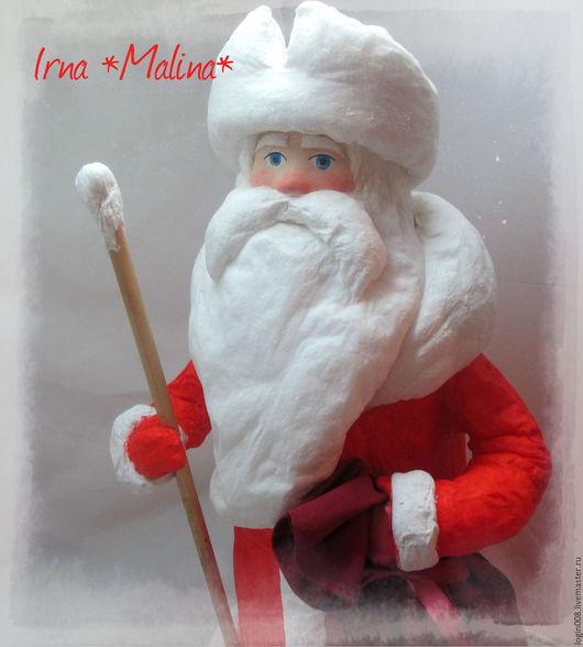 Сказочные персонажи ручной работы. Ярмарка Мастеров - ручная работа. Купить Ватный дед Мороз Продан. Handmade. Ярко-красный