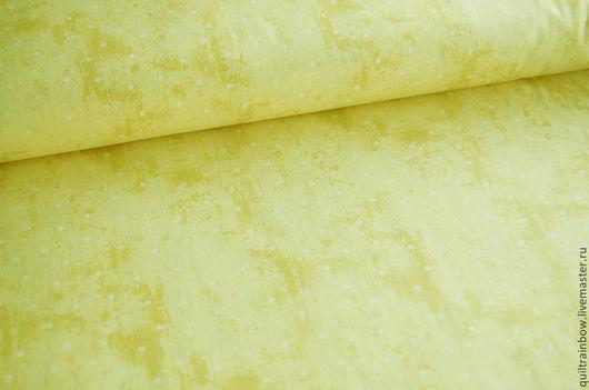 """Шитье ручной работы. Ярмарка Мастеров - ручная работа. Купить Хлопок """"Желтый горошек"""". Handmade. Лимонный, американские ткани"""