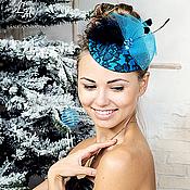 Аксессуары handmade. Livemaster - original item Christmas pill box hat. Handmade.