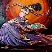 Картины и панно ручной работы. Ярмарка Мастеров - ручная работа картина маслом Танец. Handmade.