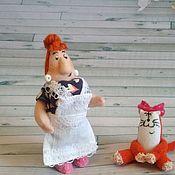 Мягкие игрушки ручной работы. Ярмарка Мастеров - ручная работа Фрекен Бок и Матильда миниатюра. Handmade.