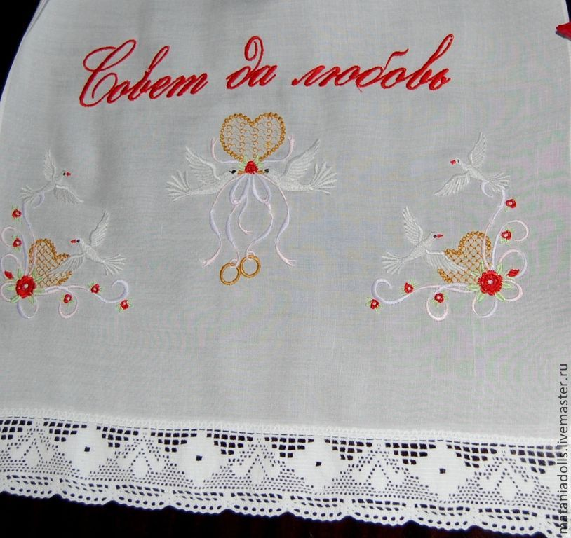 Towel wedding 'Lovebirds', Wedding towels, Liepaja,  Фото №1