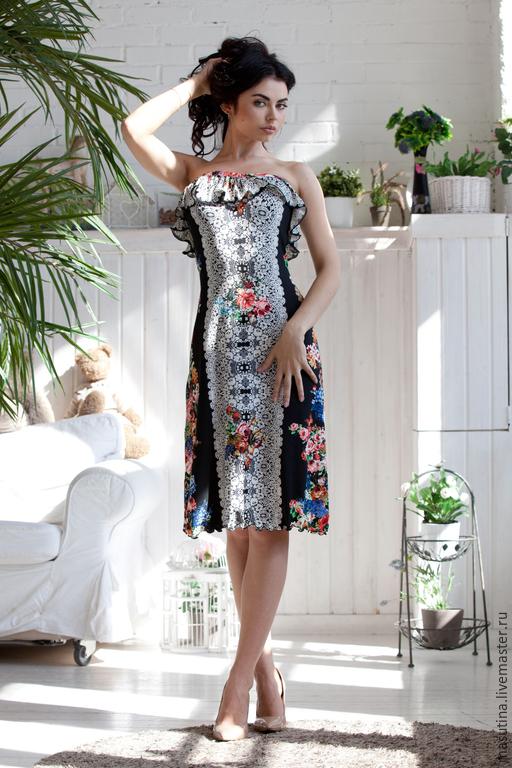 """Платья ручной работы. Ярмарка Мастеров - ручная работа. Купить Платье """"Decolte"""". Handmade. Черный, купить платье"""