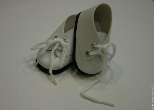 Куклы и игрушки ручной работы. Ярмарка Мастеров - ручная работа. Купить Ботиночки белые 7см(обувь для кукол). Handmade. Аксессуары