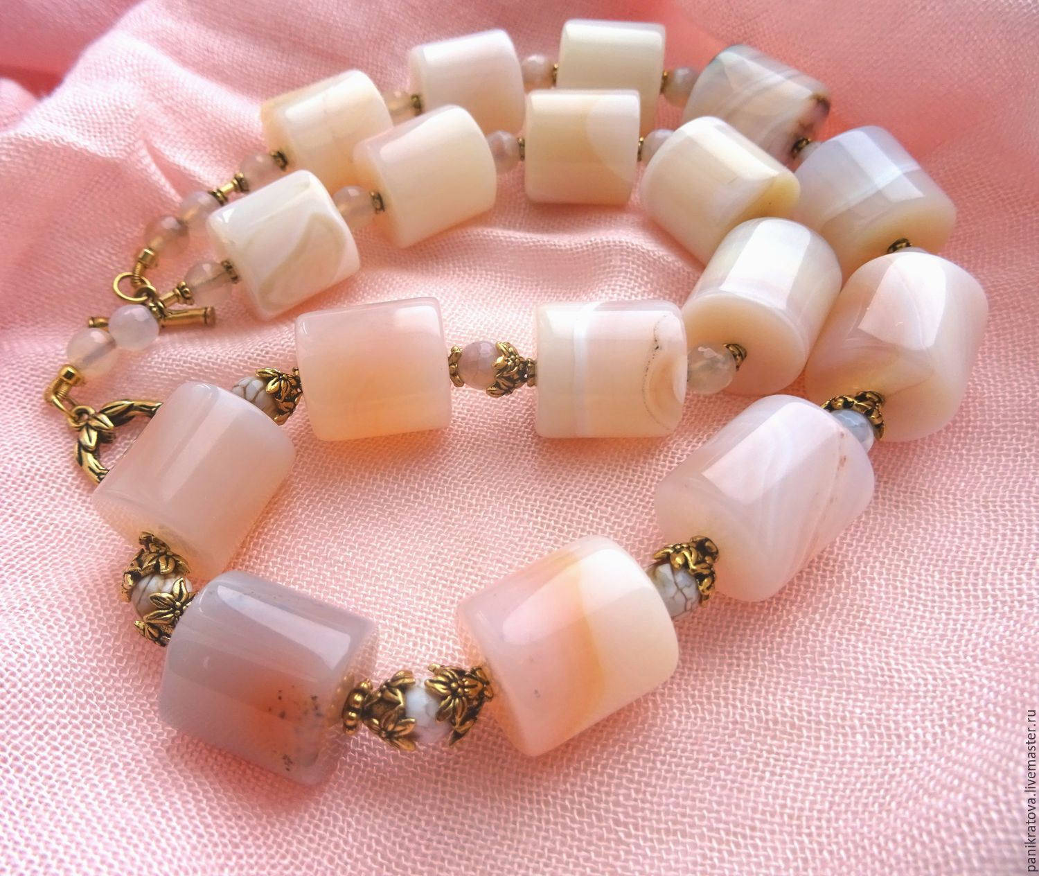 necklace 'nostalgie' (agate), Necklace, Moscow,  Фото №1