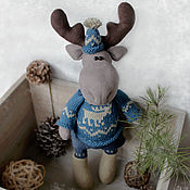 Куклы и игрушки handmade. Livemaster - original item Elk Ivar. interior toy. Handmade.