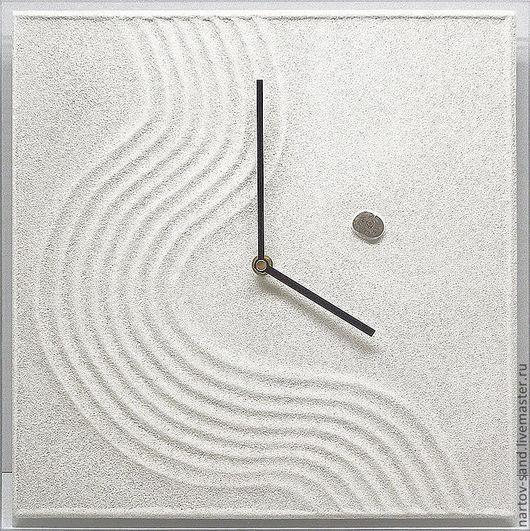 """Часы для дома ручной работы. Ярмарка Мастеров - ручная работа. Купить """"МАГИЯ СТИЛЯ"""" из песка авторские часы. Handmade."""