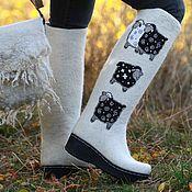 """Обувь ручной работы. Ярмарка Мастеров - ручная работа Валенки """"Овечки"""". Handmade."""