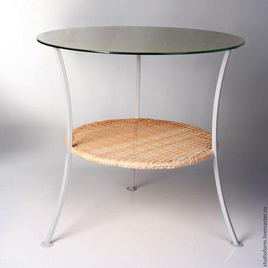 Мебель ручной работы. Ярмарка Мастеров - ручная работа. Купить Стол с стеклянной столешницей. Handmade. Стол, металлокаркас, стеклянный стол
