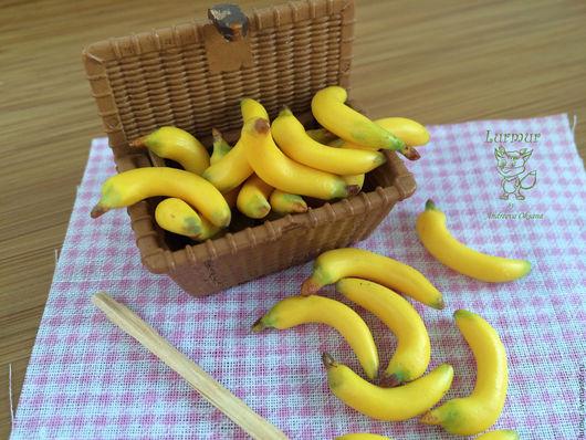 """Еда ручной работы. Ярмарка Мастеров - ручная работа. Купить """"Бананы"""" Миниатюра кукольная. Handmade. Кукольная миниатюра, кукольный домик"""