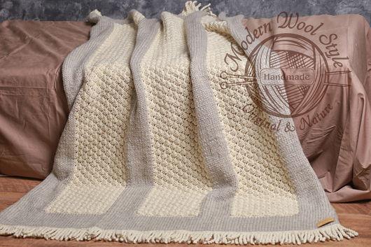 Текстиль, ковры ручной работы. Ярмарка Мастеров - ручная работа. Купить Плед CAMBERLY, шерсть мериноса. Handmade. Комбинированный, шерсть
