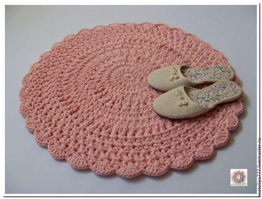 Текстиль, ковры ручной работы. Ярмарка Мастеров - ручная работа. Купить Вязаный коврик ручной работы прикроватный. Handmade.
