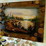 Картины и панно handmade. Livemaster - original item Panels brushed birthplace. Handmade.