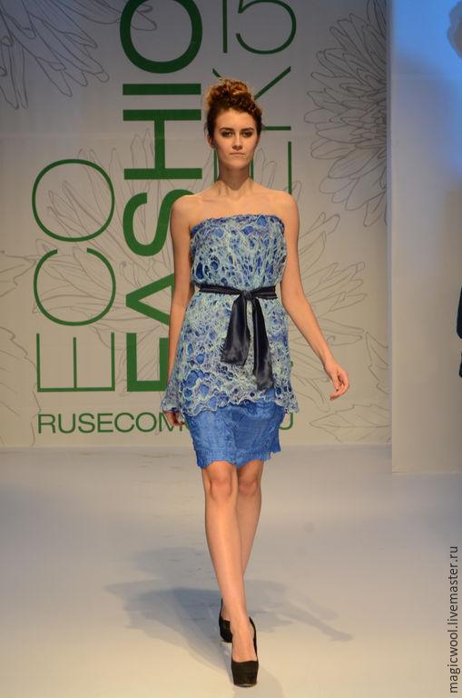 Платья ручной работы. Ярмарка Мастеров - ручная работа. Купить Платье. Handmade. Синий, пена, маленькье синее платье