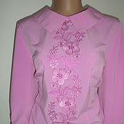 Одежда ручной работы. Ярмарка Мастеров - ручная работа Классическая блузка с вышивкой. Handmade.