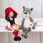 Куклы и игрушки ручной работы. Ярмарка Мастеров - ручная работа Красная шапочка и серый волк. Handmade.