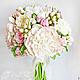 Свадебные цветы ручной работы. Букет невесты с пионами и розами из полимерной глины. Юлия Шепелева Lovely Flowers Lab. Интернет-магазин Ярмарка Мастеров.