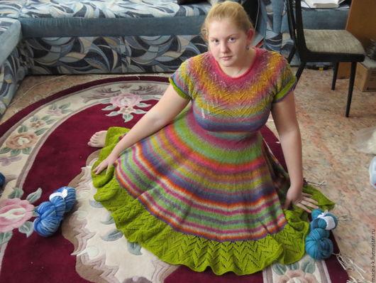 """Платья ручной работы. Ярмарка Мастеров - ручная работа. Купить Платье  """"Радуга"""". Handmade. Комбинированный, платье вязаное, дундага"""