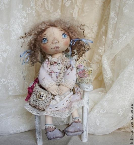 """Куклы тыквоголовки ручной работы. Ярмарка Мастеров - ручная работа. Купить текстильная кукла"""" Масянька"""". Handmade. Бежевый, текстильная игрушка"""