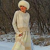 Одежда ручной работы. Ярмарка Мастеров - ручная работа Комплект в стиле БОХО. Ажурная макси юбка и свитер (№237). Handmade.