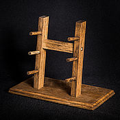 Сувениры и подарки handmade. Livemaster - original item Stand for 3 folding knives from solid oak. Handmade.