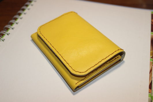 Кошельки и визитницы ручной работы. Ярмарка Мастеров - ручная работа. Купить Желтый мини-кошелек. Handmade. Желтый, кошелек