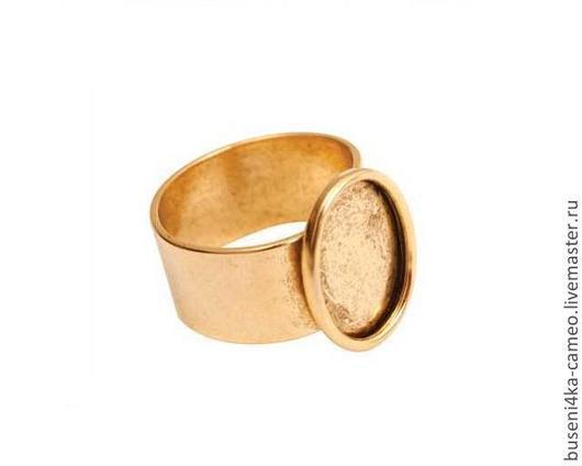 Для украшений ручной работы. Ярмарка Мастеров - ручная работа. Купить Основа для кольца Гладкая 10х14мм, ND античное золото. Handmade.