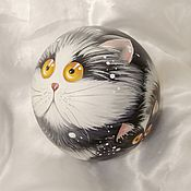 Сувениры и подарки handmade. Livemaster - original item Cat with kittens A La cats Kim Haskins Music ball tumbler. Handmade.