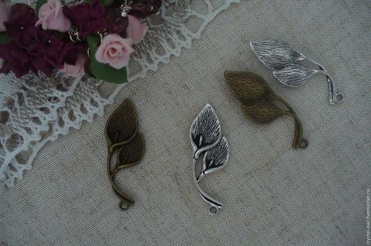 Для украшений ручной работы. Ярмарка Мастеров - ручная работа. Купить Подвеска цветок калла  - цвета серебро и бронза Ц-016. Handmade.